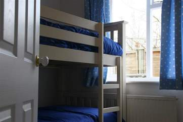 The bunk room is perfect for children.