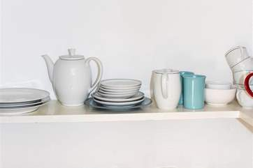 Some of the crockery available.