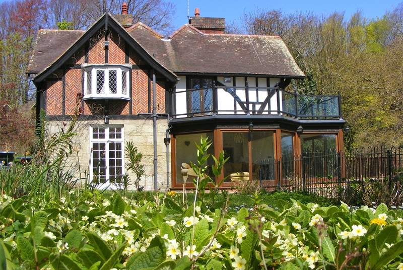 Luccombe Chine House sits within a 7 acre estate of mature landscaped gardens, adjacent to National Trust land
