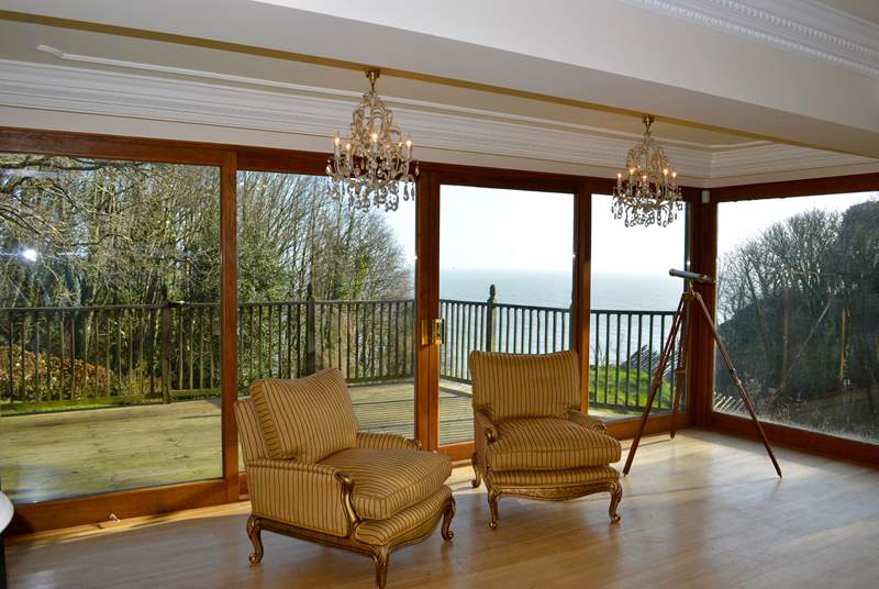 The house has extensive views of the Sea and nearby coastline