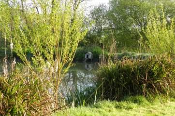 Fabulous greenery surrounds the lake.