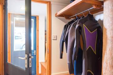Space to hang up your wetsuits, coats etc.
