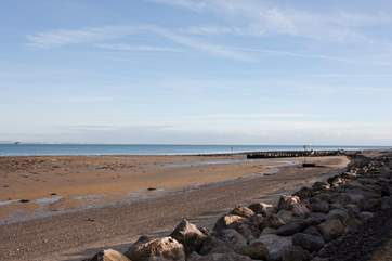 Seaview beach is ideal for swimming with shallow waters making it perfect for young children.