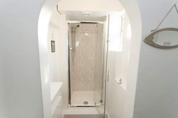 Bathroom with shower cubicle