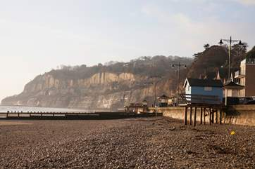 Shanklin beach which is a mixture of stone and sand.