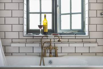 Enjoy a glass of something whilst soaking in the bath after a day out walking.