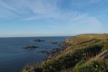 Walk the coast path or just sit and enjoy a cream tea, all with that view!