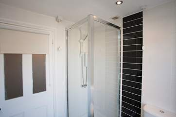 Shower cubicle in shower room