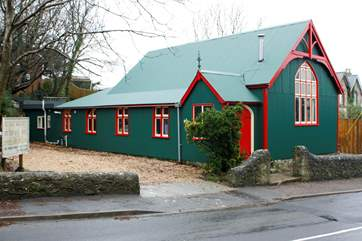 The building is an old converted 'Tin Tabernacle' Mission Hall