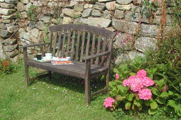 Relax in the garden.