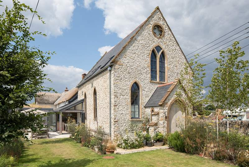 Musbury Chapel has been beautifully restored to create a fabulous home, just three miles inland from the Jurassic Coast.