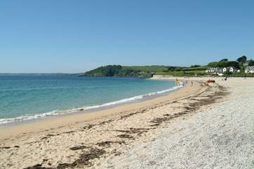 Gyllyngvase beach is less than a mile away.
