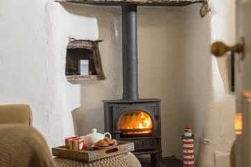 This little wood-burner will keep you toasty warm at all times of year.