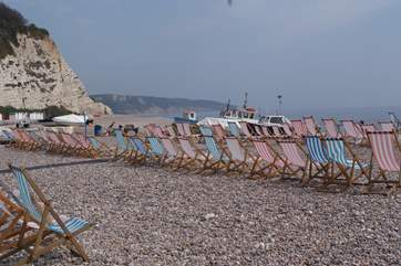The beach at Beer has such character and the fishing boats still land fish here for the stall beside the beach.