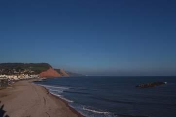 Sidmouth Beach.