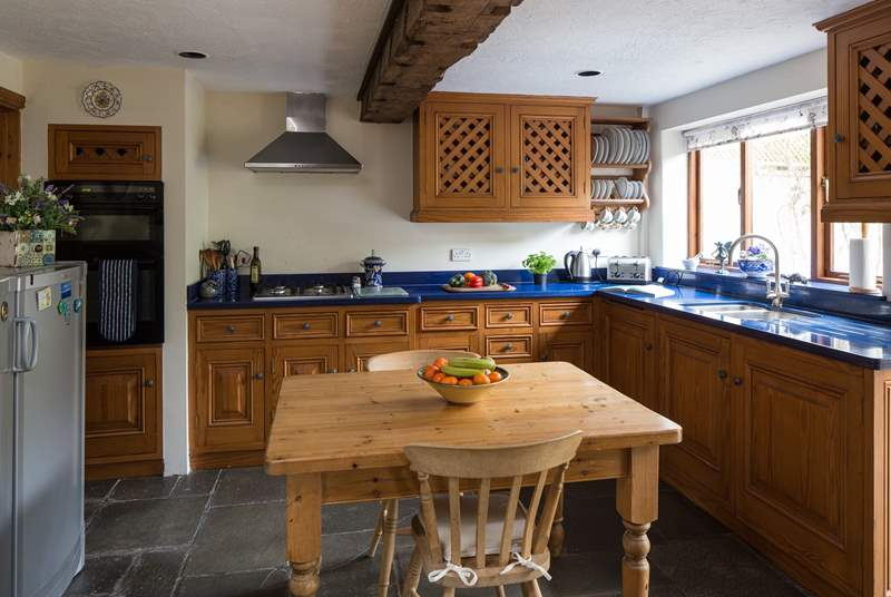 Everything you could need in this family kitchen to conjure up a holiday feast.