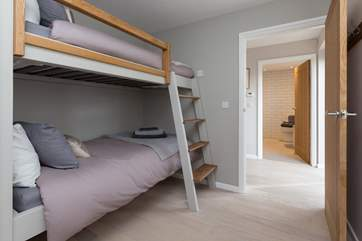 This is the third bedroom with its bespoke hand-built three-foot bunks - perfect for adults as well as for children.