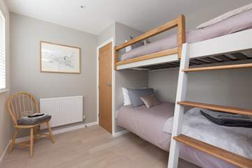 This is another view of the third bedroom to give you a good idea of how much space there is. The fitted wardrobe offers extra space for the other bedrooms too.