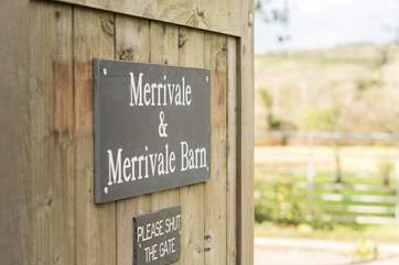 Merrivale Barn sits across the cobbled courtyard from the Owners' house Merrivale opposite.