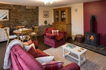Plenty of room to enjoy a cosy night in front of the wood-burner.
