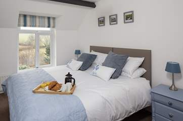 Delightfully comfy and welcoming zip and link bed in bedroom 1. Views over the uninterrupted countryside await you, what a great way to start your day.
