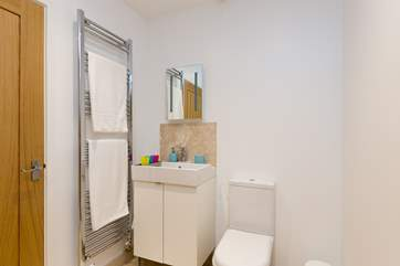 The Jack and Jill shower-room is situated between the two bedrooms, each having its own lockable door.
