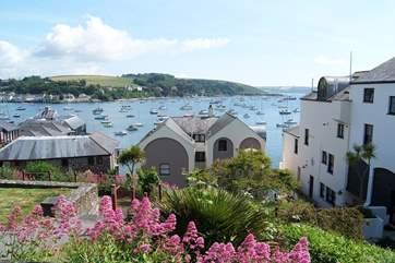Winchester Gardens above the waterside development has superb views across Falmouth Bay.