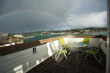 Every cloud has...a rainbow! the views from the terrace are amazing even when it rains!