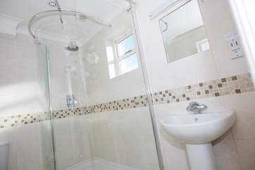 The en suite shower-room to Bedroom1.