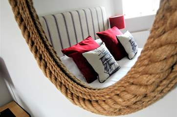 Nautical touches tothe decor in Bedroom 1.