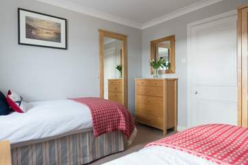 Oak furniture throughout providing ample storage.