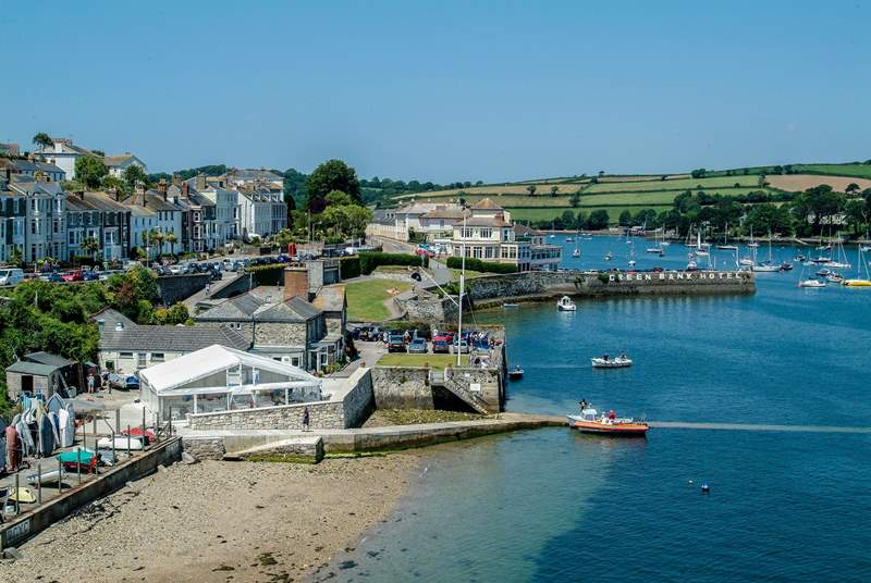 Looking towards the Royal Cornwall Yacht Club from the roof terrace.