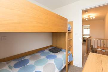 The third bedroom has solid bunks with 3ft mattresses so is good for adults as well as for children.
