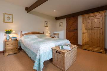 This is the master bedroom, at one end of the cottage.