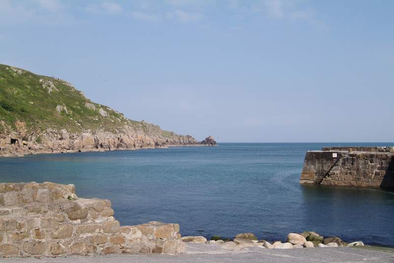 Lamorna Cove, along the south coast.