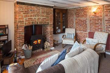 For the colder evenings, light the fire and cosy up on the sofa with a good book or a nice film