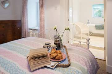 Treat your better half to breakfast in bed, after all, you are on holiday!