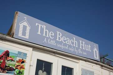The Beach Hut Cafe is situated right on Bembridge Beach with fantastic views across the sea
