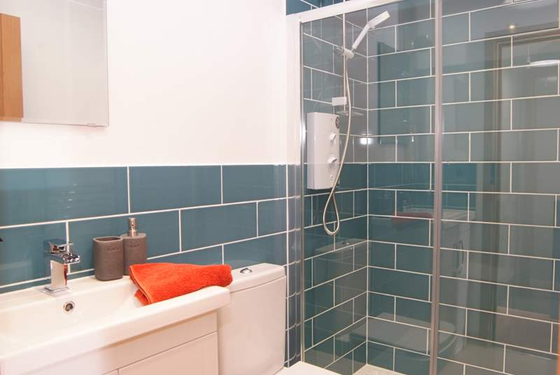 There is a wonderful family shower-room on the first floor - as well as the en suite for the ground floor bedroom.