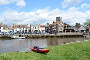 The Saxon walled town of Wareham is gateway to the Jurassic Coast. Kayak hire is available and Wareham Quay has a market and live bands in  the summer months.