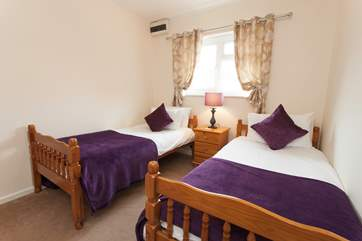 There is a lovely twin bedroom on the ground floor