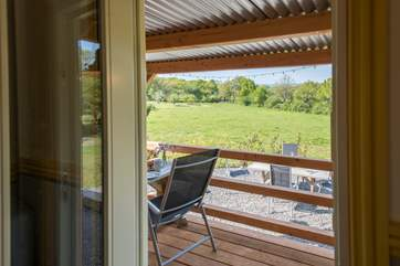 The gorgeous countryside view can be enjoyed from inside or outside.