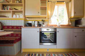 There is a well-equipped kitchen area, perfect for rustling up a scrumptious supper.