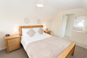 The master bedroom has a lovely double bed for those essential holiday lie ins