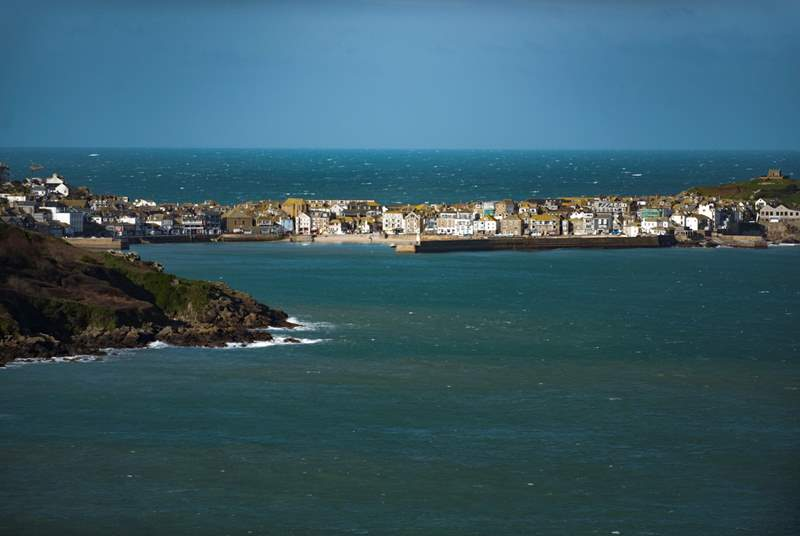 St Ives harbour is nearby.