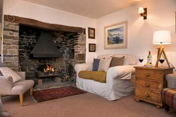 The open fire makes this an ideal retreat all year round.
