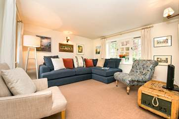 Plenty of comfy seating in the second sitting-room.