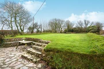 The garden is mainly laid to lawn making it ideal for games for both young and old.