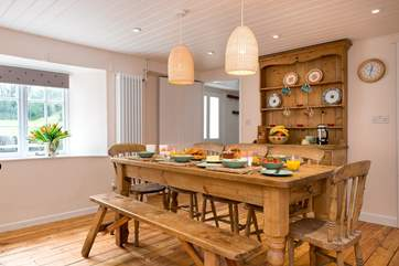 Plenty of room for all around the dining table- making holiday mealtimes a real treat