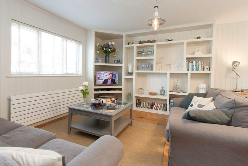 The living room is well equipped with smart TV and Blu-ray DVD player perfect for a relaxing evening in.